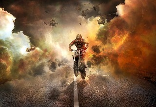 dramatic motorcycle image